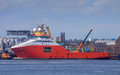 Red Ship In Harbour Stock Photo - 41425390