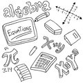 Algebra Symbols And Objects Royalty Free Stock Photos - 41425448