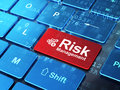 Business Concept: Calculator And Risk Management Stock Photos - 41436283