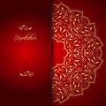 Red Lace Background With Floral Ornament Royalty Free Stock Image - 41441086