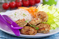 Tiny Chicken Burgers Royalty Free Stock Images - 41449749