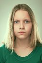 Portrait Of A Thinking Teen Girl Royalty Free Stock Photography - 41450897