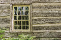 Old Window On A Wooden Farm House Wall Stock Photo - 41459470