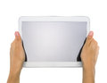 Female Teen Hands Holding Generic Tablet Pc Stock Photography - 41466292