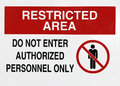 Restricted Area Sign Royalty Free Stock Photos - 41474378