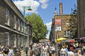 Tourists In Brick Lane On A Busy Sunny Sunday Stock Photo - 41478410