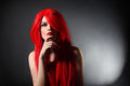 Sensual Woman With Red Hair Stock Photography - 41478922