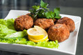 Fried Cutlets In The Plate Stock Photos - 41488333