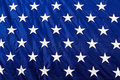 American Flag Closeup White Stars Blue Background Royalty Free Stock Photo - 41492675