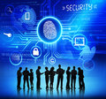 Silhouettes Of Business People And Security Concepts Stock Photo - 41494060