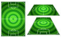 Set Of Football Or Soccer Fields Circles Striped With Vertical A Royalty Free Stock Photos - 41494458