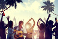 People Having A Party By The Beach Royalty Free Stock Photography - 41494817