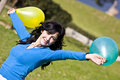 Beauty With Balloons Royalty Free Stock Photos - 4156588