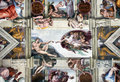VATICAN - MAY 30, 2014: The Sistine Chapel Ceiling, Painted By M Royalty Free Stock Photos - 41500928