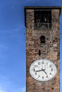 Bell Tower With Clock Royalty Free Stock Photos - 41505038