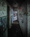 Scary Abandoned Corridor With Hidden Hand Royalty Free Stock Photography - 41507817