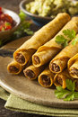 Homemade Mexican Beef Taquitos Royalty Free Stock Photo - 41513295