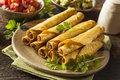 Homemade Mexican Beef Taquitos Stock Image - 41513301