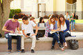 High School Students Hanging Out On Campus Royalty Free Stock Photos - 41522088
