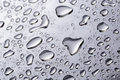 Abstract Water Drops On Polished Stainless Steel Surface Royalty Free Stock Photography - 41526667