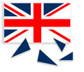 United Kingdom Falling Apart - Flag With Scotland Independent. R Royalty Free Stock Photo - 41530615