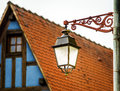 Old Vintage Street Lamp In Small City Royalty Free Stock Images - 41538579