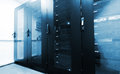 Modern Server Room With Black Computer Cabinets Royalty Free Stock Photos - 41539098