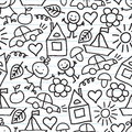 Children S Drawings. Doodle Background Royalty Free Stock Photos - 41552548