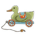 Duck Pull Wooden Toy Stock Image - 41555701