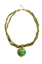 Necklace With Emerald Green Stone. Stock Images - 41560044