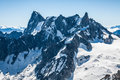 View Of Mont Blanc Mountain Range From Aiguille Du Midi In Chamo Royalty Free Stock Image - 41560526
