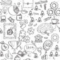 Seamless Pattern Of Doodles On Business And Money Theme Royalty Free Stock Photo - 41561285