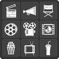 Set Of 9 Cinema Web And Mobile Icons. Vector. Royalty Free Stock Photo - 41561995