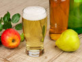 Glass And Bottles Of Cider Stock Photo - 41562500