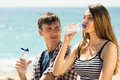 Young Couple Drink Water Stock Photos - 41573183