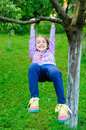 Child Play Garden Tree Hanging Stock Photos - 41574923