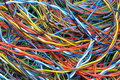 Network Chaos Of Colorful Computer Cables Royalty Free Stock Image - 41577086