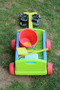 Toys For Kid Along With Child Sandals Stock Photos - 41589773