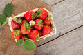 Fresh Strawberry In Basket Royalty Free Stock Images - 41590039