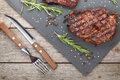 Beef Steaks With Rosemary And Spices Royalty Free Stock Photo - 41590055