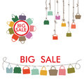 Colorful Silhouettes Women S Handbags.Big Sale Royalty Free Stock Photography - 41592007