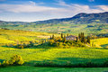 Tuscany Landscape At Sunset Stock Photo - 41598880