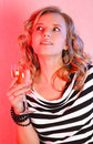 Beautiful Girl With Champagne Stock Photos - 4167363