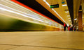 Metro Train Passing By On Subway Station Stock Photography - 41618092