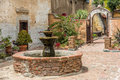 Spanish Mission Fountain In Courtyard Royalty Free Stock Photography - 41629267