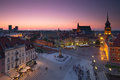 Warsaw Old Town Square At Night Stock Image - 41629841