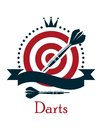 Darts Championship Emblem Royalty Free Stock Photography - 41631227