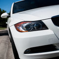 White Sport Car Front Royalty Free Stock Image - 41639496