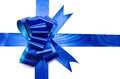 Ribbon And Shiny Blue Bow Stock Photos - 41647193