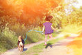 Little Girl With Dog Stock Image - 41653281